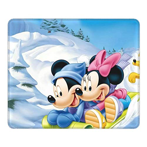 Mickey and Friends Mickey Gaming Mouse Pad Square Anti-Slip Rubber Mousepad with Stitched Edges for Office Laptop Computer PC Wireless Mice 10 x 12 inches