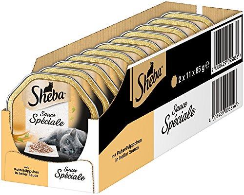 Sheba Sauce Spéarische edele natte voedercreaties, voor volwassen katten, enkel voer in de schaal
