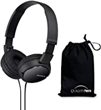 Sony MDRZX110 ZX Series Stereo Headphones (Black) with Ultra Soft Travelers Pouch …