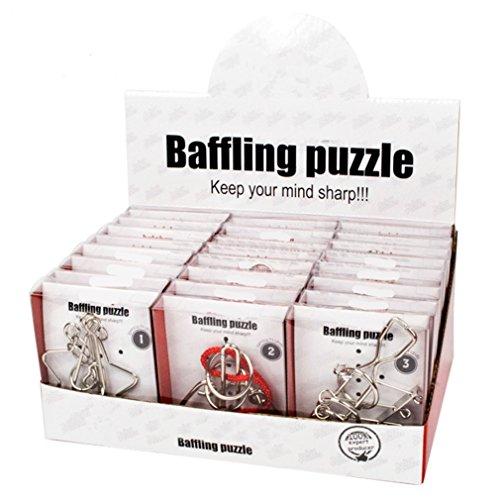 Gracelaza 24 Piezas Juguetes Mágicos de Alambre de Metal Set - 3D Rompecabezas Brain Teaser Puzzle - IQ Inteligencia Juguete Educativo - Juego Ideales y Regalos para Niños y Adolescentes