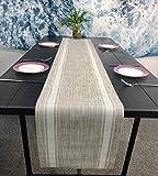 OSVINO テーブルランナー テーブルセンター 食卓ランナー おもてなし 食卓飾り 断熱 清潔しやすい 滑り止め お家用 レストラン ホテル用品 ズレ防止 丸洗いOK, ホワイト 180x30cm