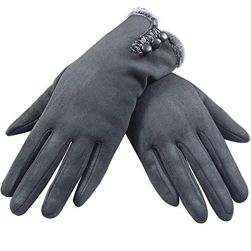 Guantes para pantalla táctil, guantes de invierno para mujer, guantes de invierno, gruesos, cálidos, con forro supersuave y cálido, para conducir, esquiar, patinar, escalar