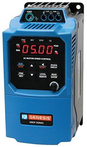KB Electronics, 9642, KBDF-42, 1HP, 3-Phase, 380-480V (Input), IP 20 Enclosure, Variable Frequency Drives