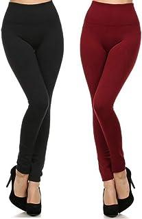 Yelete Girls Fashion Tights Leggings Black w// Pink Hearts XS