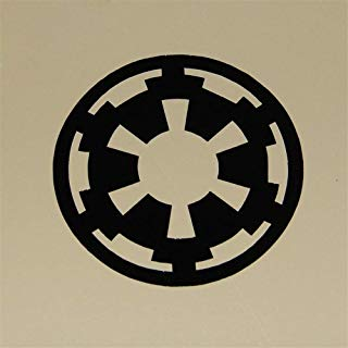 Guduis Wall Stickers Vinyl Words Sayings Removable Lettering 2Pcs/Set Variety of Star Wars Wall Stickers Imperial Rebel Alliance Logo Decal for Laptop/Phone/Car Decoration