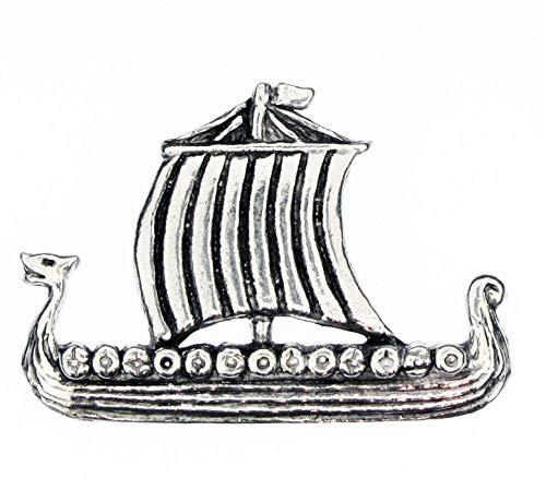 Pageant Pewter Ving Longship Petwr Pin Badge Lapel Brooch for tie hat Coat Bag