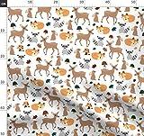 Wald, Tiere, Hirsch, Kaninchen, Waschbär, Fuchs, Pilze