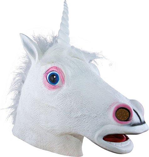 P'tit Clown- Masque adulte latex intégral licorne, Unisex, 21041, Taille Unique