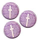 Pack-3 Valxart Ten Commandments on Pin-Back Button, 2.25'