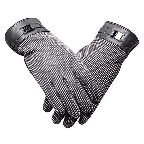 Schutz- Motorrad-Fahr Warm Anti-Rutsch-Touch-Screen-graue Handschuhe, Schutz (Color : A)