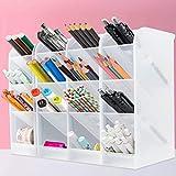 4PCS grande lapiceros para escritorio,Organizador de escritorio,compartimentos Soporte para bolígrafo,Portalápices Multifuncional,Soporte para bolígrafo de Escritorio,Organizador de Pluma (A)