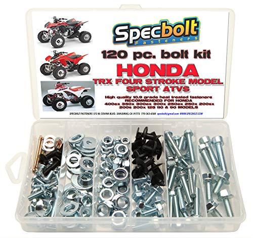 120pc Specbolt Bolt Kit for Maintenance & Restoration fits: Honda 400EX 250EX OEM Spec Fasteners Quad TRX400EX TRX250X aslo Great for ATC & TRX 350x 300ex 300x 250ex 250x 200sx 200s 200x & TRX90