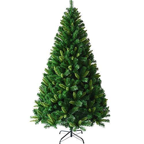 MIMI KING Arbre De Noël Artificiel Éteint Eco-Friendly Arbre De Noel Crypté Feuilles Mélangées avec Support en Métal pour Intérieur Extérieur Vert,3.9Feet