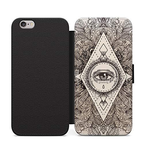 Unknown Symbols Alchemist Magic Science Wallet Funda de cuero Flip teléfono para iPhone 12 Pro