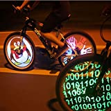 Cdycam 128 RGB LED Bicycle Spokes Lights Color Changing Programmable Waterproof Bicycle Light Spoke Wheel Light Bike Light Lamp