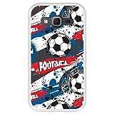 Hapdey Coque pour [ Samsung Galaxy Core Prime G360 ] Dessin [ Modèle de Sport avec des Ballons de Football ] Etui en Silicone Souple TPU Transparente