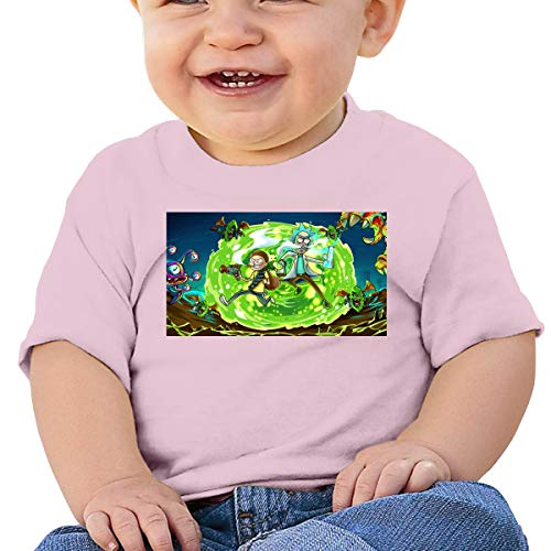 Baby's Ri_ck and Mor_ty 2 Basic Shirts met korte mouwen, SOFE, Katoen, Gedenkteken Zwart