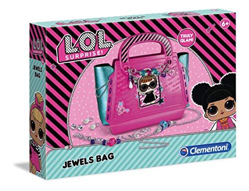 Clementoni 18546 L.O.L Surprise – Zauberhafte Handtasche mit Schmuck, Tasche zum Selbstmachen & Dekorieren, funkelnde Accessoires, Kreativspielzeug für Kinder ab 6 Jahren