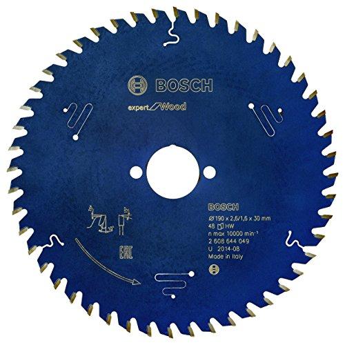 Bosch Professional Kreissägeblatt Expert für Wood (Holz, 190 x 30 x 2,6 mm, 48 Zähne, Zubehör Kreissäge)