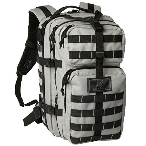Exos Bravo Tactical Assault Backpack Rucksack (Grey/Black)