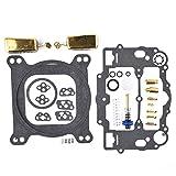 Carburetor Rebuild Kit For Edelbrock 1477 1400 1404 1405 1406 1407 1411 1409 With Brass Floats