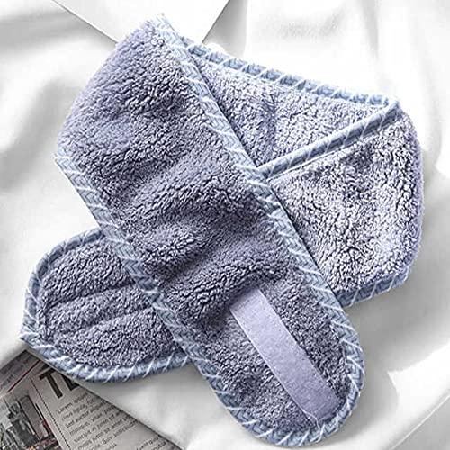 1 Toalla suave Accesorios para el cabello Cintas para niñas para la cara de lavado de la cara Maquillaje de la banda de pelo Mujeres Ajustable SPA DIEADA FACIADA