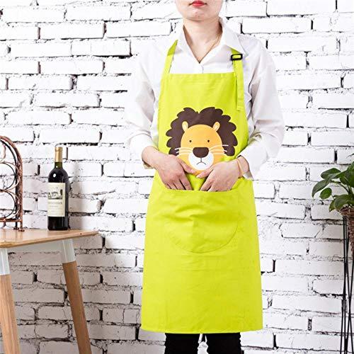 Opak Baumwolltuch Stoff Schürze für Frau Küchenschürzen mit Taschen für Mutter und Tochter Kochen Backen Lätzchen, Erwachsenen Schürze