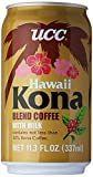 UCC Hawaii Kona Blend Coffee with Milk, 11.3- Fl. Oz Cans (Pack of 24)