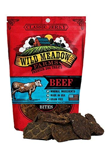 Wild Meadow Farms - Classic Beef Bites - USA Made Soft Jerky Dog Treats