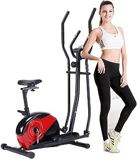 KirinSport Elliptical Fitness Cyclette 10 Livelli di Resistenza Display LCD Test della frequenza cardiaca Macchina ellitti...