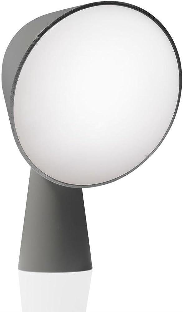 Foscarini binic antracite,lampada da tavolo a led in policarbonato 200001.27