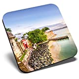 Great Single Coaster Square - San Juan Puerto Rico Caribbean Travel  Glossy Quality Coasters   Tabletop Protection for Any Table Type #24139