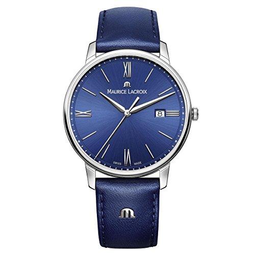 Maurice Lacroix Reloj Analógico para Hombre de Cuarzo con Correa en Cuero EL1118-SS001-410-1