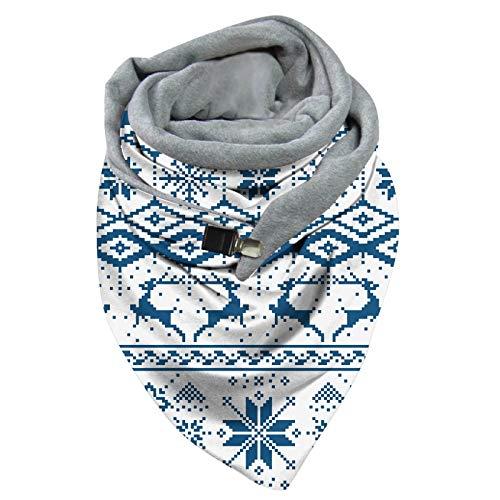 Sciarpa da donna, scialli, Natale, renne, inverno, sciarpa, sciarpa, sciarpa, sciarpa, inverno, Natale, vintage, multiuso, con bottoni, scialle russo, scialle uv