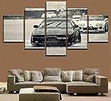 YFTNIPL Bilder 5 Teilig Leinwand Art Bilder Toyota Supra