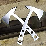 COLIBROX 2 PC Perfect Point 9.5' Stainless Steel Throwing Axe Set Hawk Hatchet Tomahawk