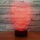 3D-Illusionslampe Led-Nachtlicht V Für Vendetta-Maske Ungehorsam Anonymer Kerl Fawkes Party Dekorative Kindergeburtstag Weihnachtsgeschenk Tischlampe