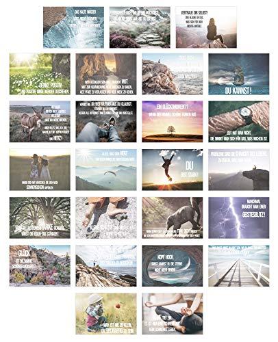 Edition Seidel Set 25 Postkarten Leben & Momente mit Sprüchen - Karten mit Spruch - Geschenk - Dekoidee, Liebe, Freundschaft, Leben, Motivation, Geburtstagskarten Bilder Bild