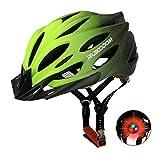 RUIKODOM Casco de Ciclismo Hombres y Mujeres Casco de Bicicleta de Montaña Casco de Equitación Casco con luz Trasera 56-62cm