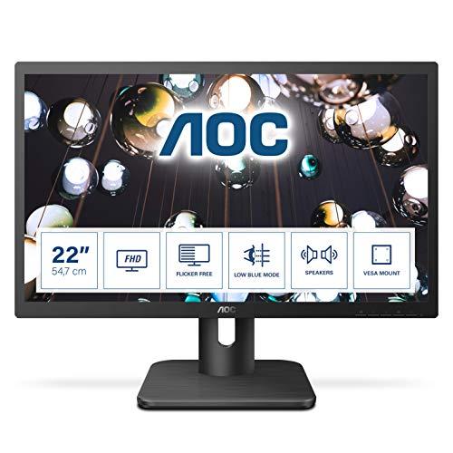 AOC 22E1D - 22 Zoll FHD Monitor (1920x1080, 60 Hz, VGA, DVI, HDMI) schwarz