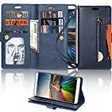 LAPOPNUT for Huawei P8 lite 2017 Wallet Case PU Leather