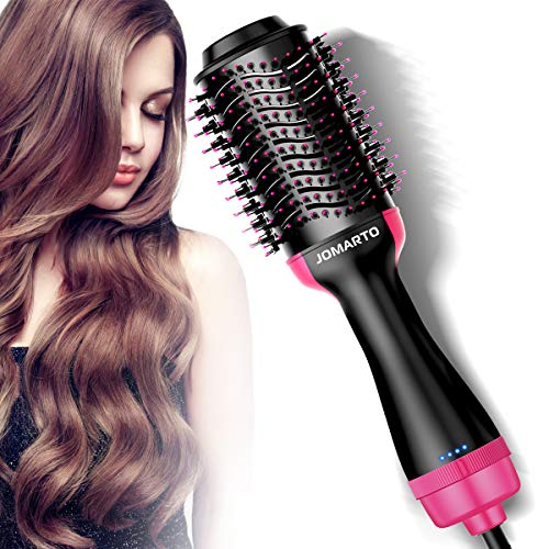 Hair Dryer Brush,Hot Air Brush, JOMARTO One Step Hair Dryer & Volumizer, Hair Styling Tool, Electric Blow Dryer for Straight, Curly, and Wet hair, Ideal Gift