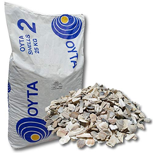 OYTA Austernschalenmix 25 kg Gr. 2 Austernschalen Muschelgrit Grit Muschelkalk