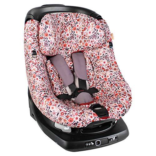 Funda para asiento infantil AxissFIX de Maxi Cosi, diseño de flores, de algodón con certificado Öko-Tex Standard 100, lavable a máquina, ajuste perfecto, protege contra el desgaste y el desgaste.