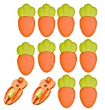 12 pcs Safety Pins Child Proof Safety Pin, Candy-Color- Cute Cartoon Safe Pins,Plastic Head, For Fabric Diapers, Garment Repair Baby Safety Pins Secure Clips for Fastening Baby Clothes Diaper Napkins