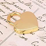 2 Pcs/set Customize Heart-shaped Padlock&Skeleton Metal Lock for Luggage Diary Book Jewelry Box Decorative Antique Metal Padlock