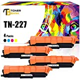 Toner Bank Compatible Toner Cartridge Replacement for Brother TN227 TN-227 TN223 TN-223 for Brother HL-L3210CW HL-L3290CDW HL-L3270CDW HL-L3230CDW MFC L3770CDW MFC-L3710CW MFC-L3750CDW (KCMY, 4-Pack)