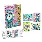 Djeco DJ08663 Juego creativo de imágenes de arena con pájaros y arena brillante, multicolor , color/modelo surtido