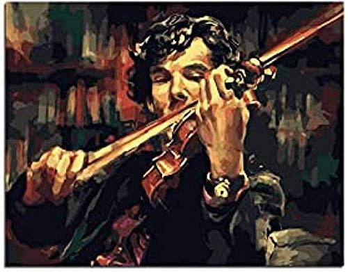 VGFTP® 1000 Teile Puzzles, Holzpuzzle Klassisches Puzzle, interessantes Spielzeug für Erwachsene Kinder Kinder Geschenke - Sherlock Holmes Geige