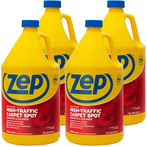 Zep High Traffic Carpet Cleaner 1 Gallon ZUHTC128 (Case of 4) Penetrating Formula Removes Deep Stains